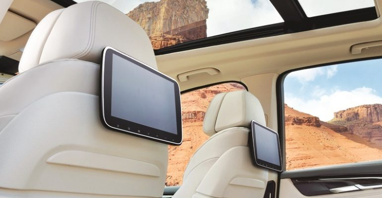 Rear Entertainment Navision ingebouwd